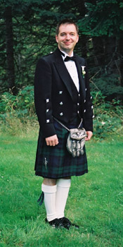 Photo of Craig Mercer in the Black Watch Kilt
