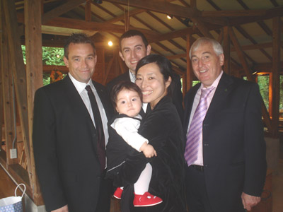 Daniel's Brother Mark, Daniel, Uncle Thomas, Kana and Gracie