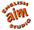 Aim English Studio Logo